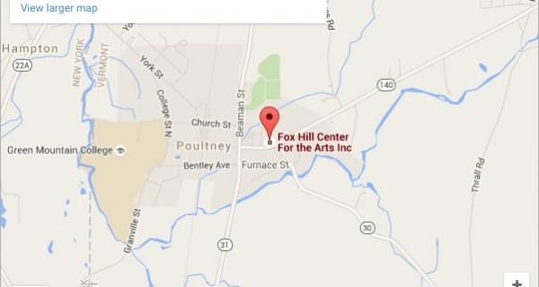 Map Of Fox Hill, Poultney