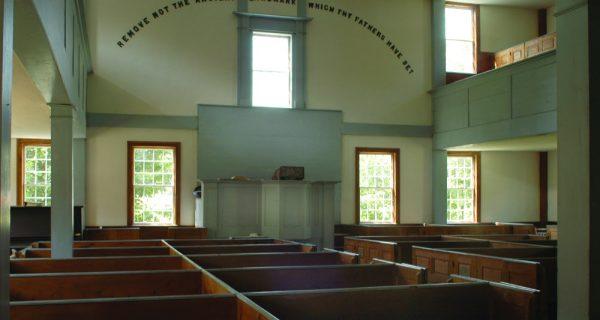 Calais Old West Church Interior