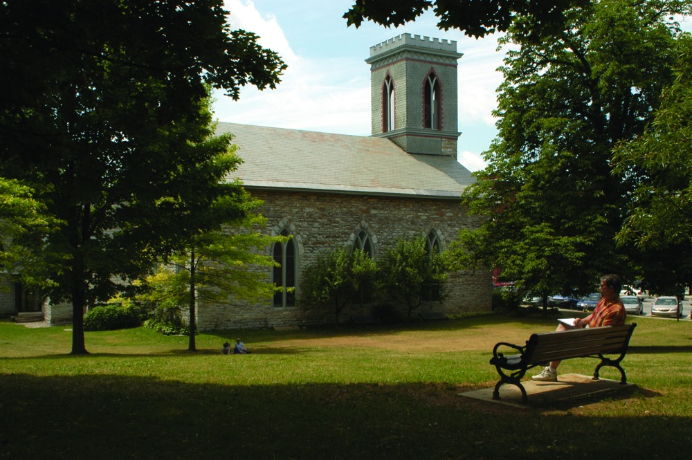 Town Green & St. Stephen's Church, Middlebury
