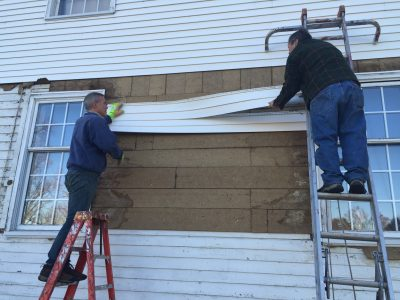 Historic Facade Restoration – From Vinyl To Clapboard