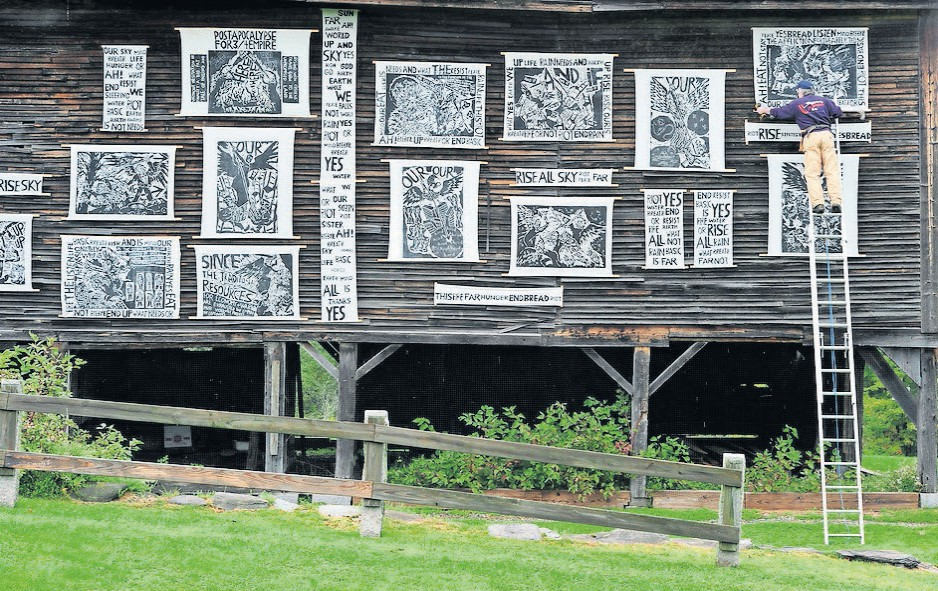 Installation View – Banners On Barn
