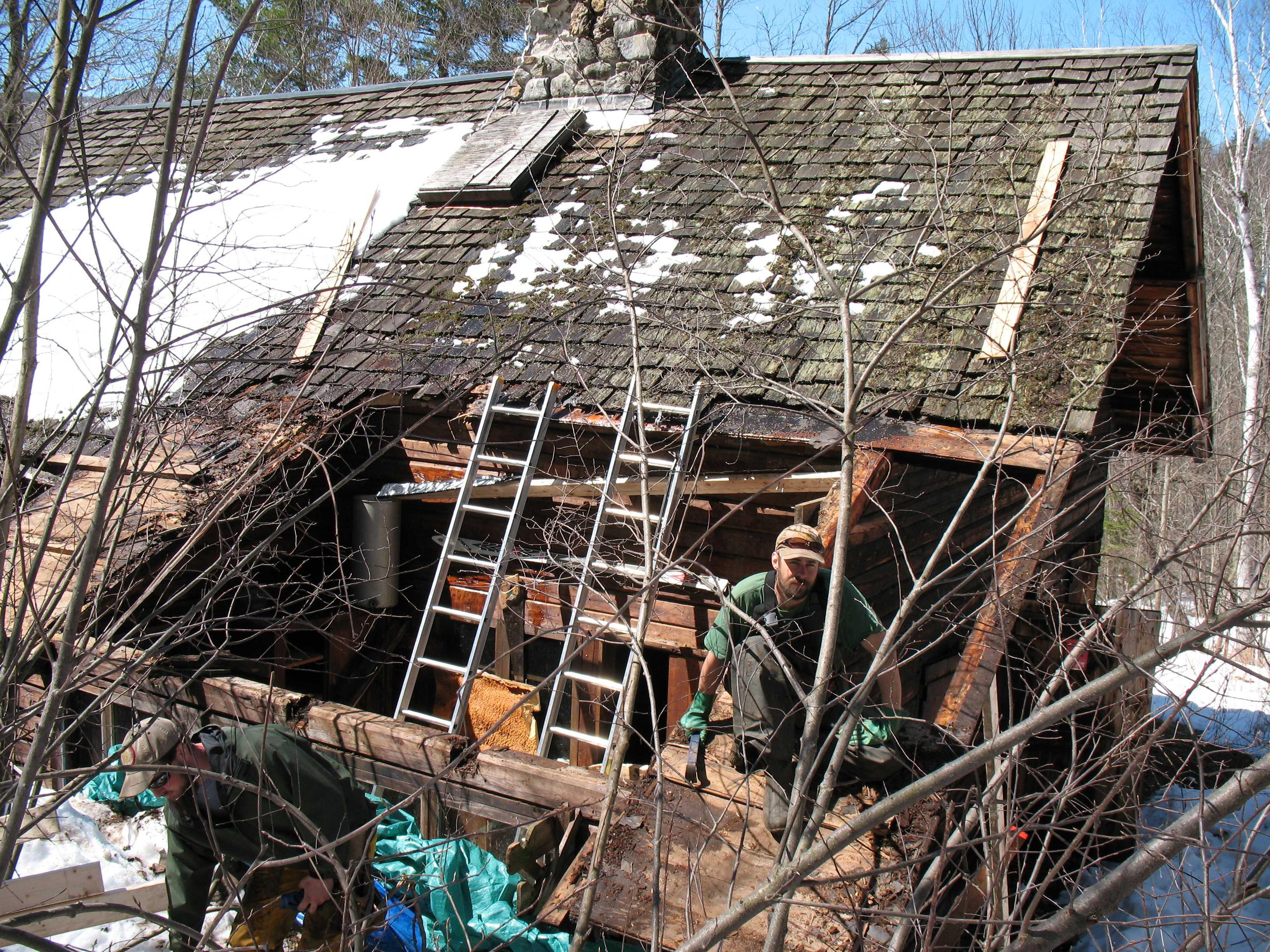 Moravian Cabin Roof Repair 2008
