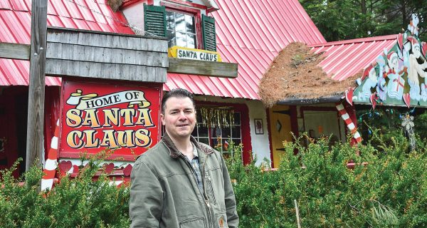 David Haversat At The Entrance To Santa;s Land
