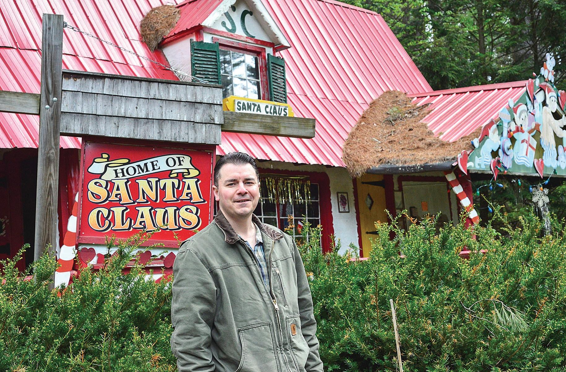 David Haversat At The Entrance To Santa;s Land
