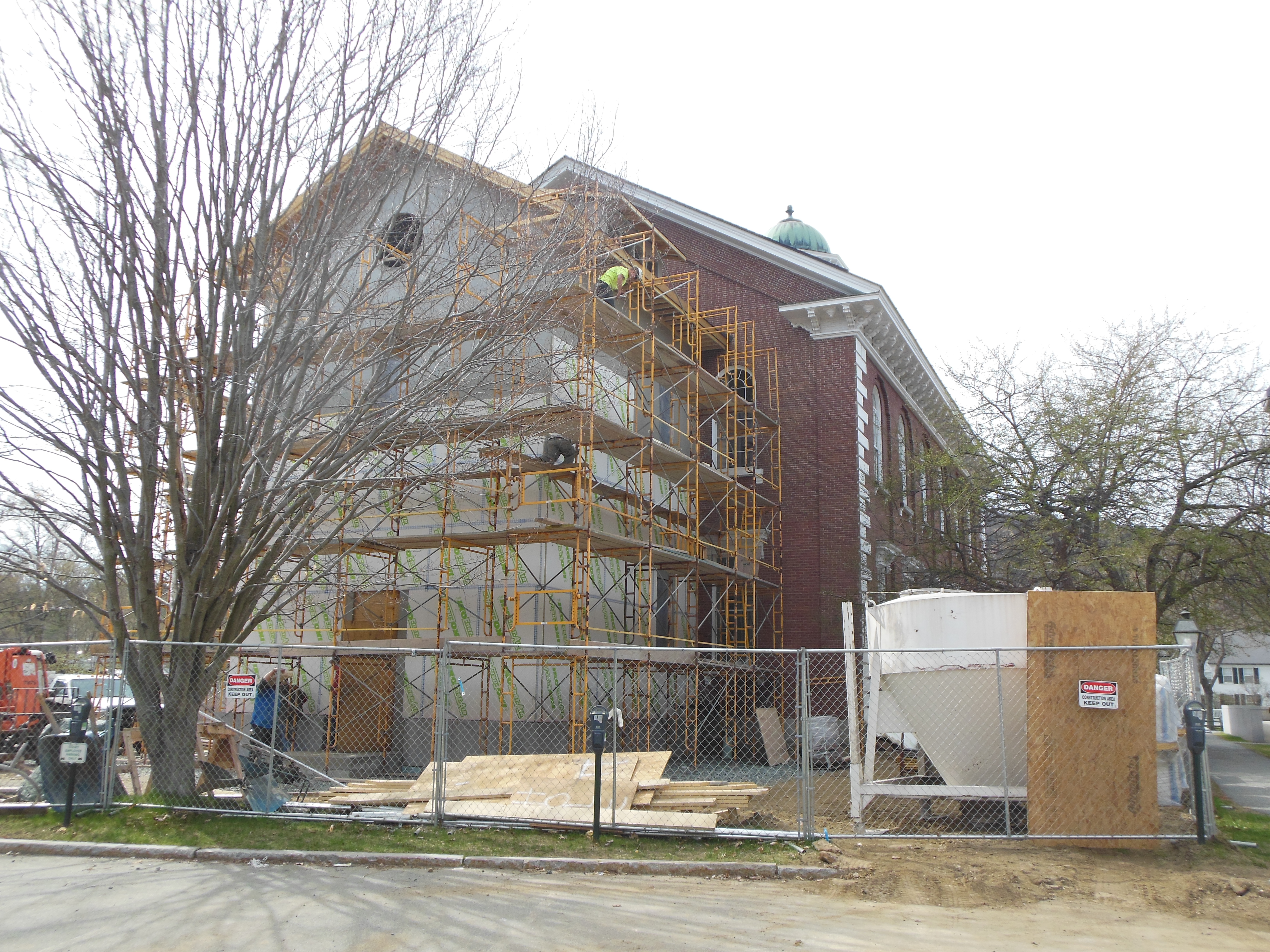 NEARING COMPLETION OF THE REAR ADDITION