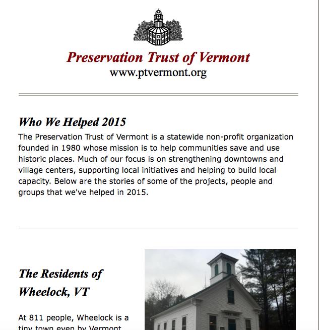 Historic Vermont: December 2015