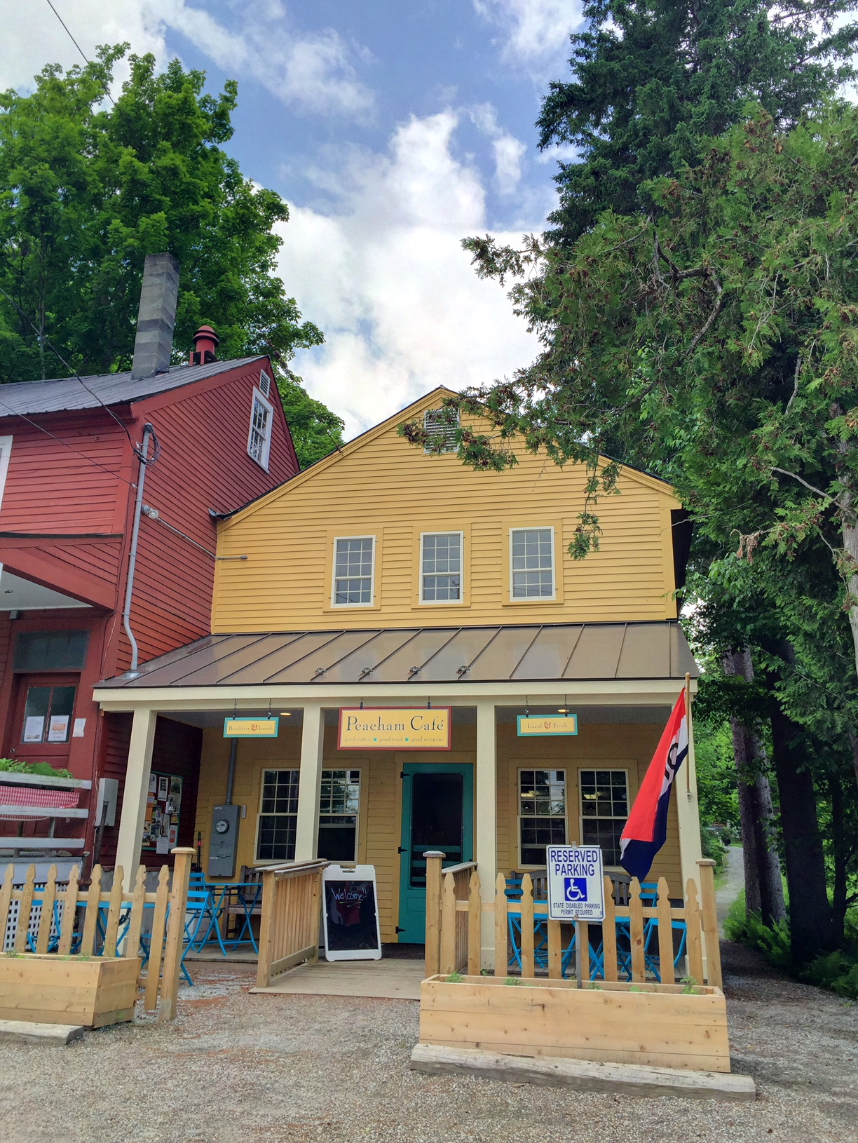 The Completed Peacham Cafe – Front View.  Town Of Peacham
