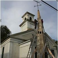 Resurrection Of The York Street Meeting House Spire – Upright Steeple Society –  Lyndon, VT