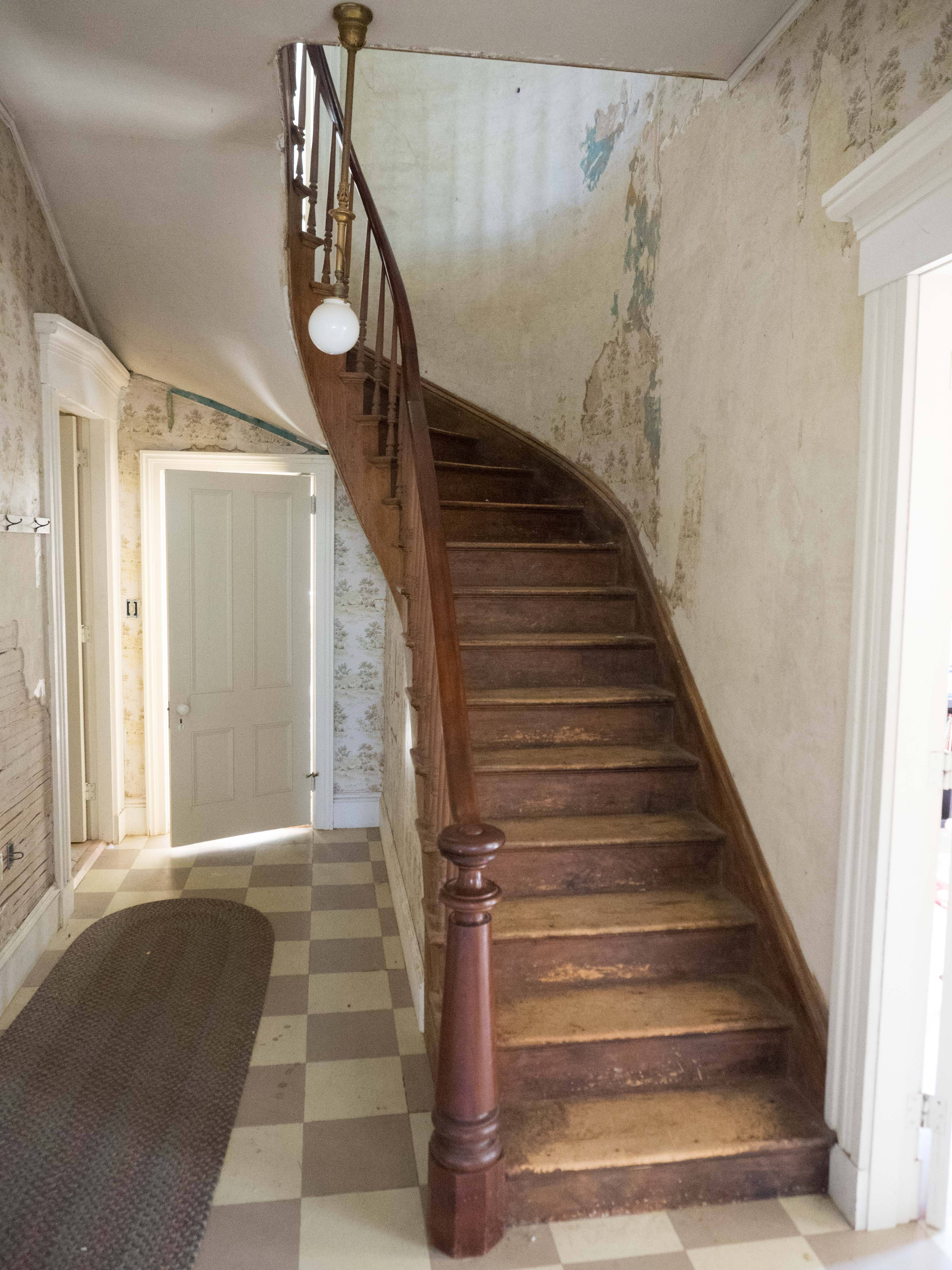 Front Hall Stair Case In Peake House